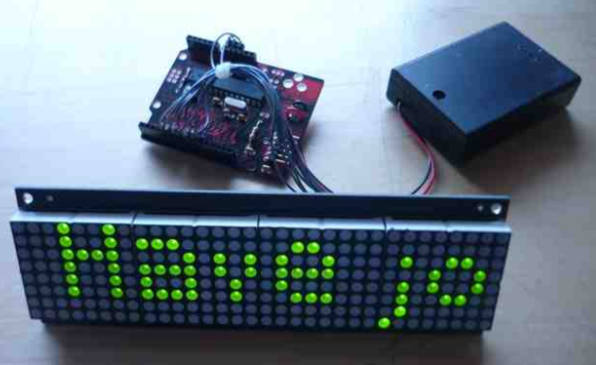 Using dot matrix LED display with arduino